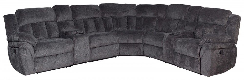 McCobb - Charcoal 6-Piece Modular Reclining Sectional