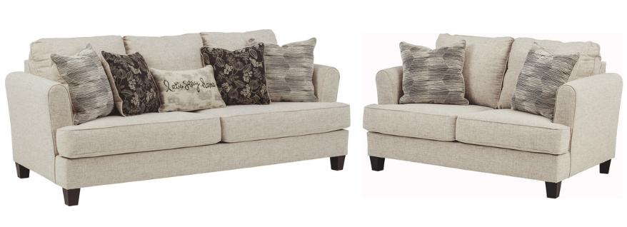 Callisburg - Linen Sofa and Loveseat Set
