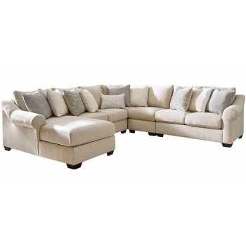 Carnaby - Linen 5-Piece Sectional with Chaise