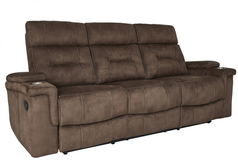 Diesel Cobra Brown Reclining Sofa