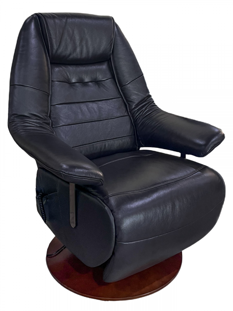 BenchMaster - Charcoal Grey Glove Soft/Match Power Reclining Chair