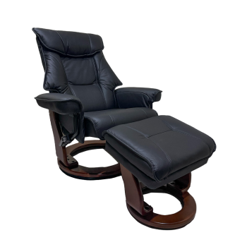BenchMaster - Black Top Grain/Match Reclining Chair