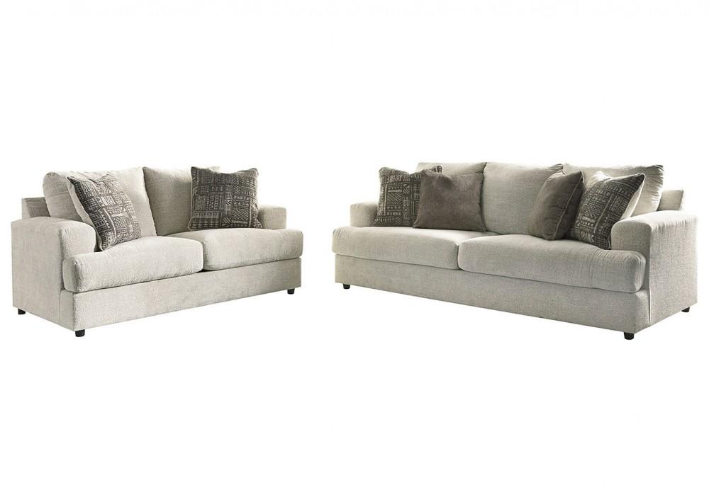 Soletren - Stone Sofa and Loveseat Set