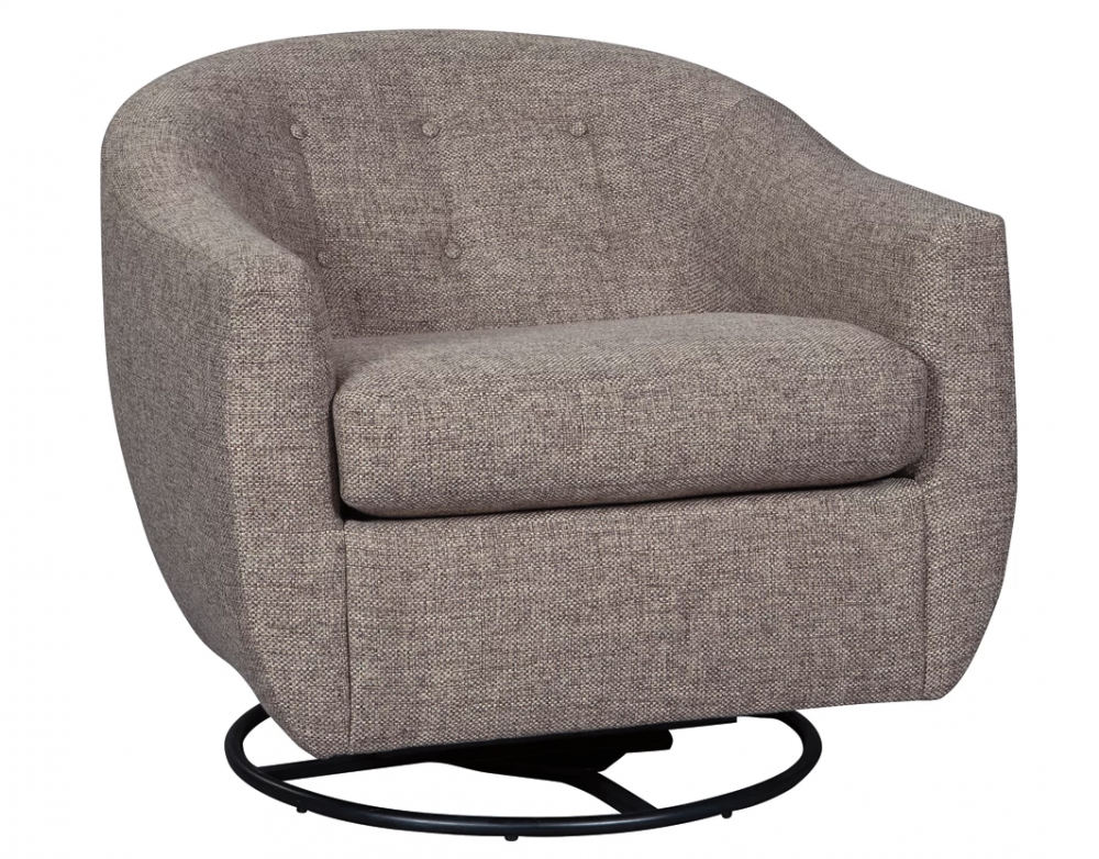 Upshur - Taupe Swivel Accent Chair