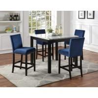 Nina Pub Table + 4 Chairs Blue