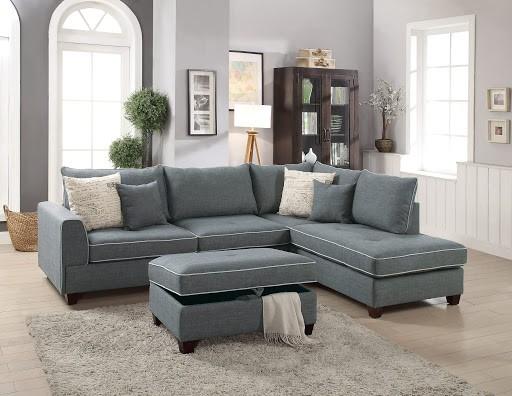 Gasol Grey Reversible Sectional Sofa
