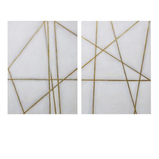 Golden Lines - Canvas Wall Art Set (2/CN)