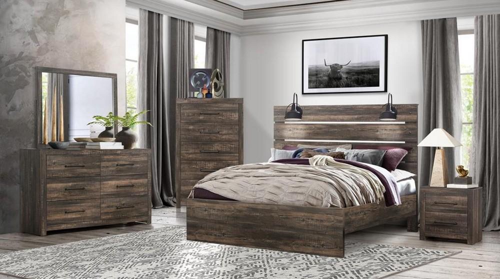 Linwood Dresser Mirror Queen Bed