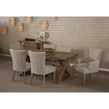 Rustica Ash Grey 5 Piece Dining Set