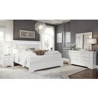 Pompeii White Dresser Mirror Queen Bed