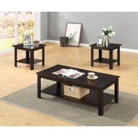 3PC CAPPUCCINO COFFEE END TABLE SET