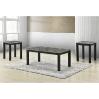 Dash Black Faux Marble Table SET 3 Pack