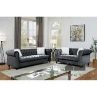 Isabella Grey Sofa and Loveseat