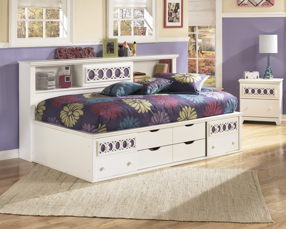 Zayley Twin Bookcase Side Rails B13182 Bed Frame Garbels