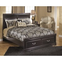 Esmarelda - Queen Panel Storage Footboard