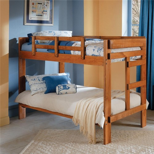 Heartland Collection Twin Size Bunk Bed W Bunkies Board Bunk Beds