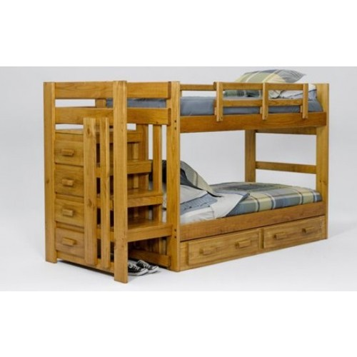 Heartland Collection Stair Way Bunk Bed W Bunkie Boards Bunk Beds