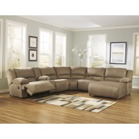 Hogan - Mocha 6 Pc. RAF Chaise Sectional