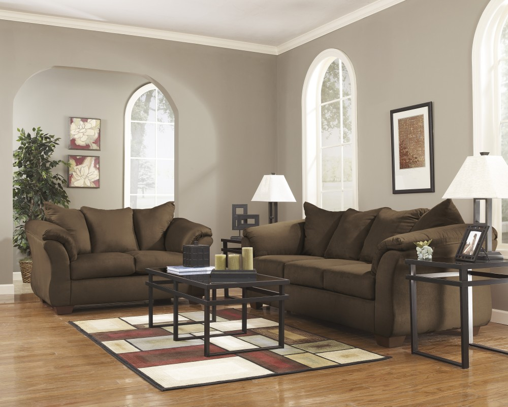 Darcy - Cafe - Sofa & Loveseat