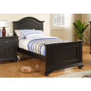 Brook Black Twin Panel Bed