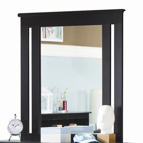 Columbia Black Framed Mirror