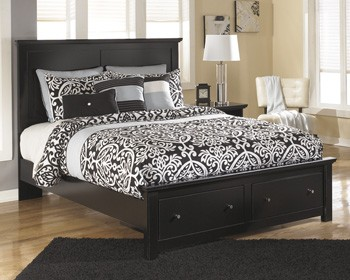 Maribel Queen Platform Storage Footboard