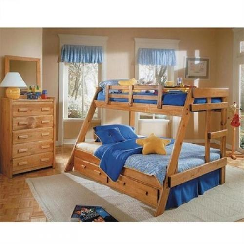 Twin-Over-Full Kid\'s Bunkbed