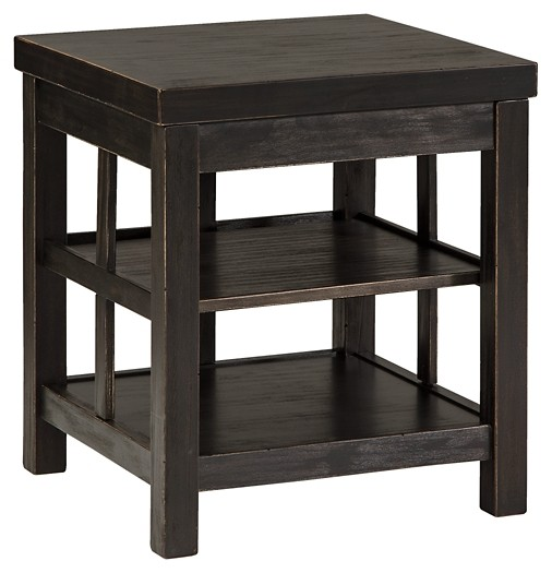 Gavelston - Black - Square End Table