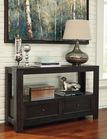 Gavelston - Black - Sofa Table