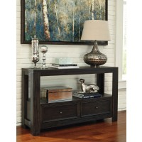 Gavelston - Black - Sofa Table