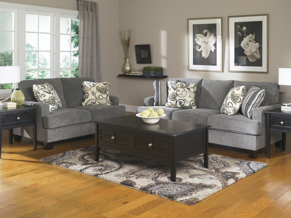 Yvette - Steel - Sofa & Loveseat