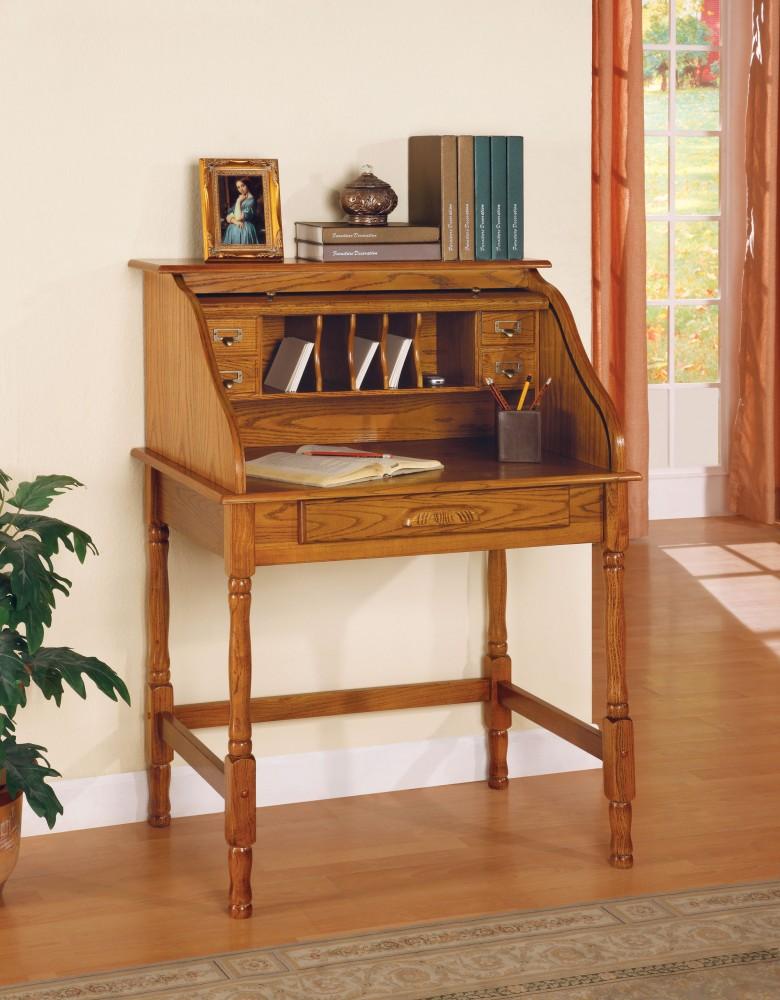 Oak Roll Top Desk   5301N