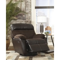 Berneen - Coffee - Swivel Rocker Recliner