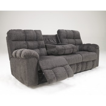 Acieona - Slate - REC Sofa w/Drop Down Table