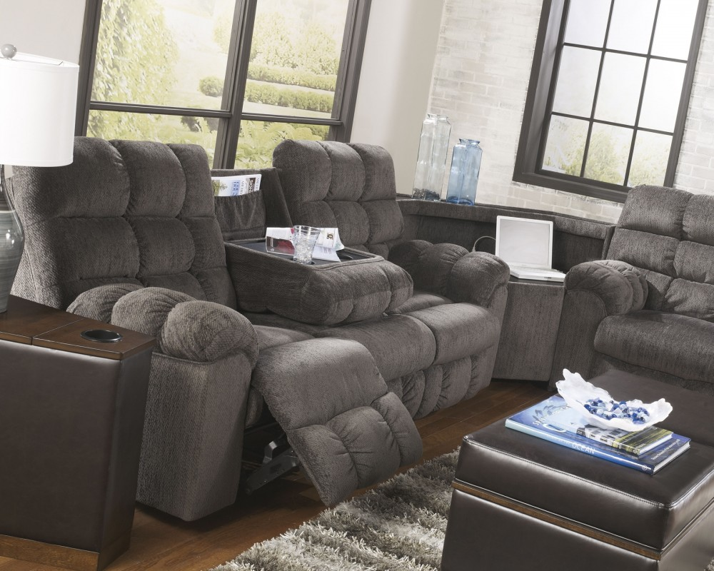 Acieona Reclining Sofa With Drop Down Table 5830089 Reclining
