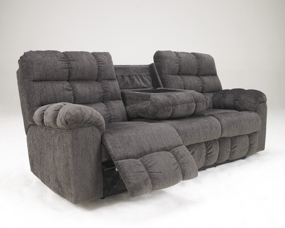 Acieona   Slate   REC Sofa W/Drop Down Table
