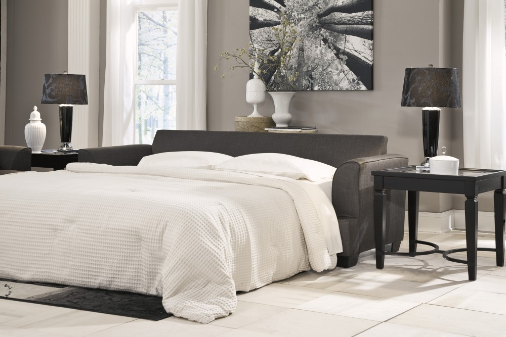 Levon - Charcoal - Queen Sofa Sleeper
