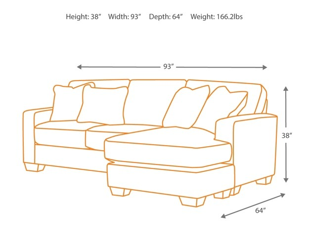 Hodan - Marble - Sofa Chaise   7970018   Sofas & Couches   Chicago ...