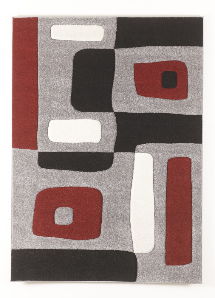 Geo Red Medium Rug R317002 Rugs Neighborhood Closet
