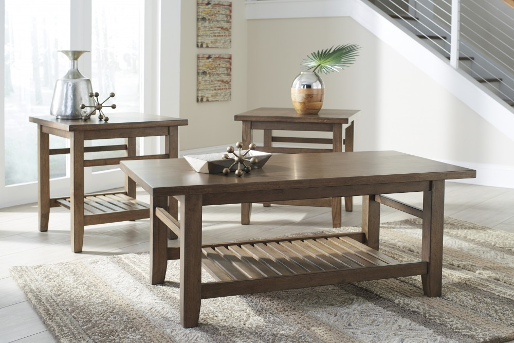 Zantori - Light Brown - Occasional Table Set (3/CN) & Zantori - Light Brown - Occasional Table Set (3/CN) | T125-13 ...