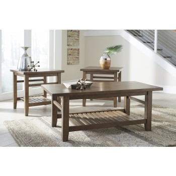 Zantori - Light Brown - Occasional Table Set (3/CN)