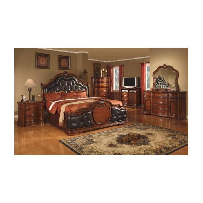 Antique Brown Cherry Bedroom