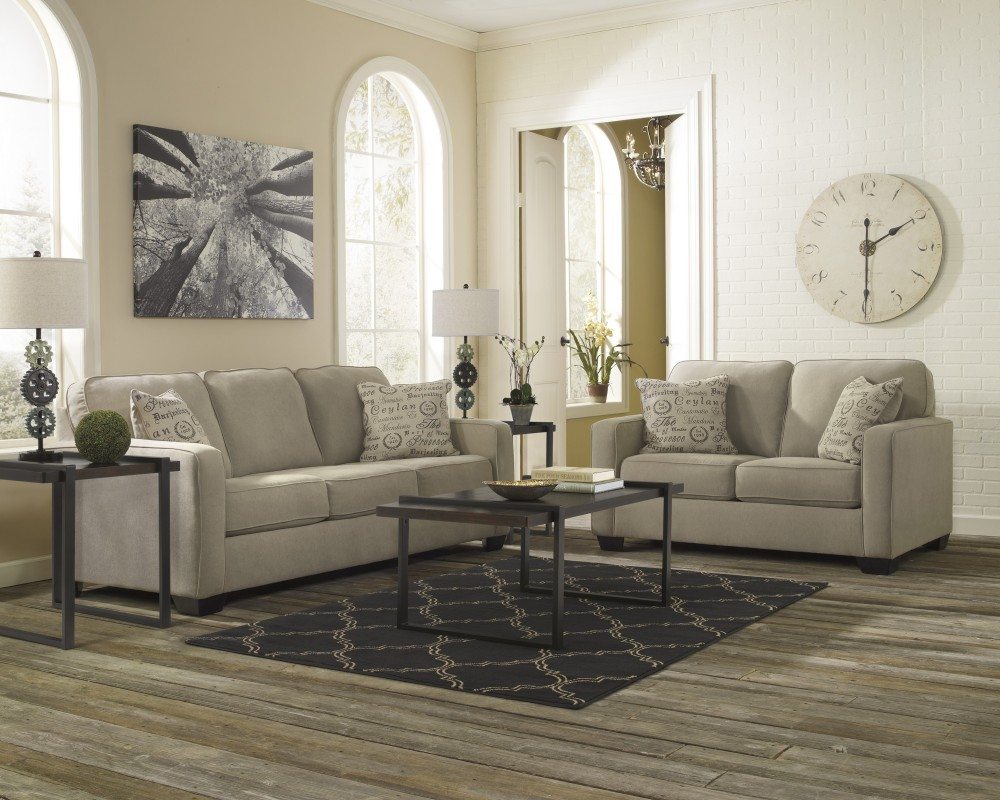 Alenya - Quartz - Sofa & Loveseat