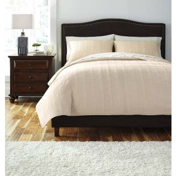 Coverlet - Beige - Queen Comforter Set