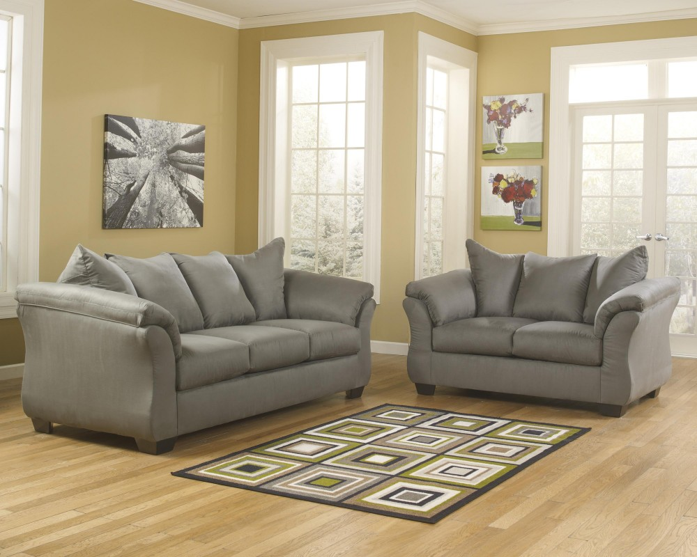 Darcy - Cobblestone - Sofa & Loveseat