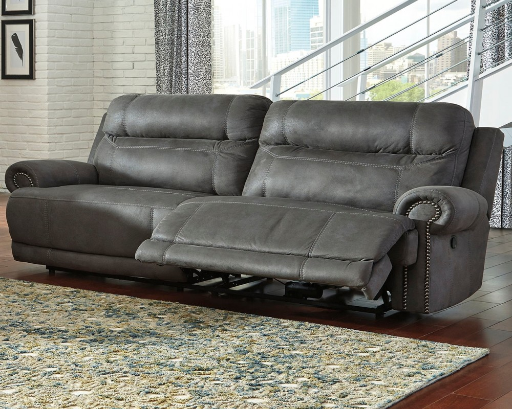 Austere Gray 2 Seat Reclining Sofa 3840181