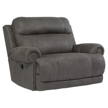 Austere - Gray - Zero Wall Power Wide Recliner