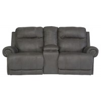 Austere - Gray - DBL REC PWR Loveseat w/Console