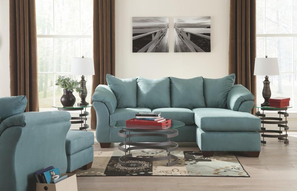 Darcy Sky Sofa Chaise 7500618 Sofas Factory