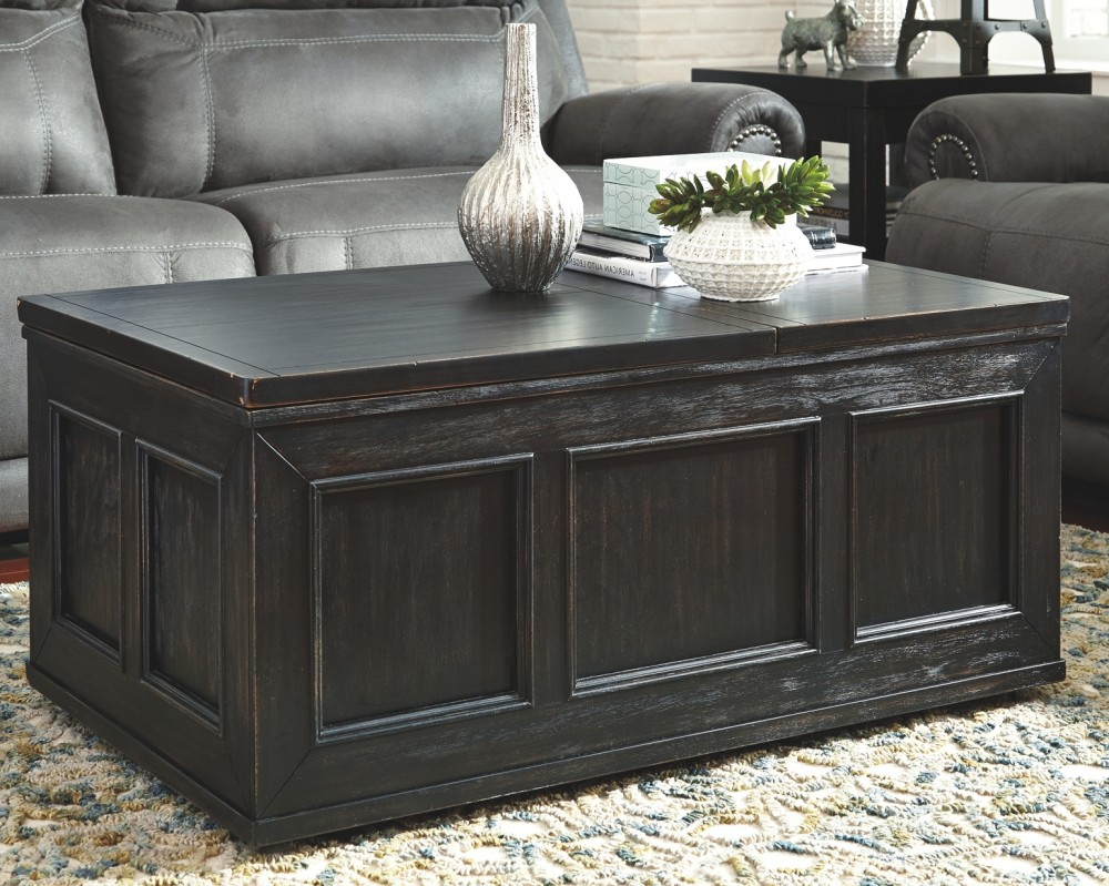 Lift Top Coffee Table Black.Gavelston Black Lift Top Cocktail Table